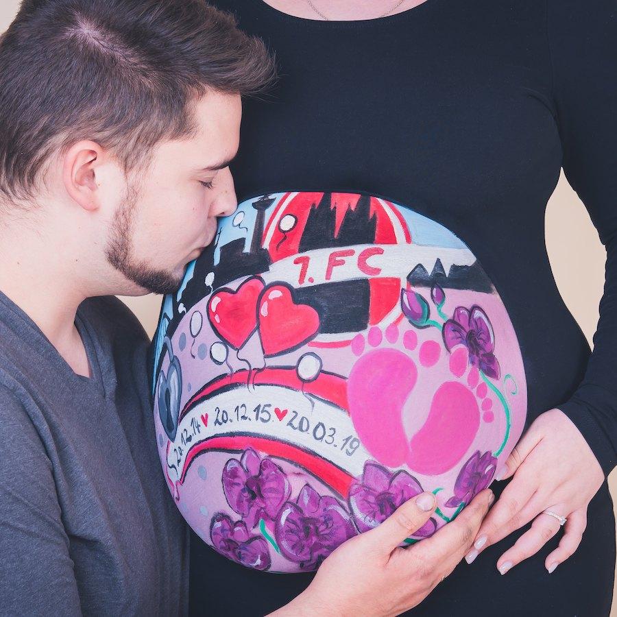 Bauchbemalung mit schwangerschaftsshooting in Wolfenbüttel