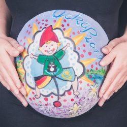 Bellypainting ist die kreative Bauchbemalung
