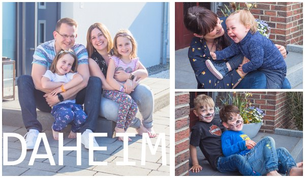 Haustürshooting Familienfotografie